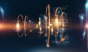 Abstract quantum technologies background